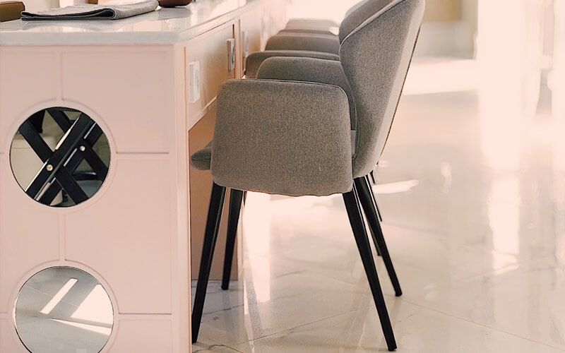 【美容室】セット椅子の寸法と配置でバランス良い間隔を空けよう